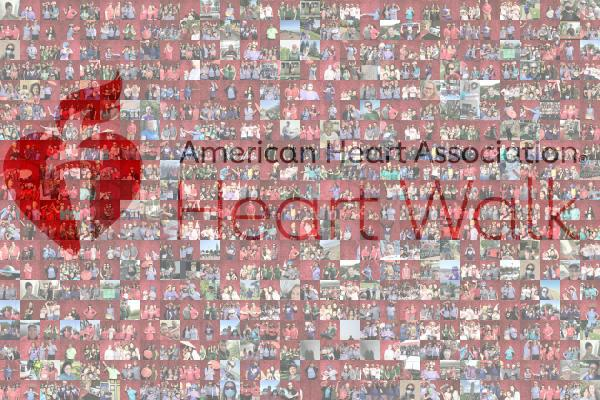 American Heart Association Virtual Mosaic Booth Wall